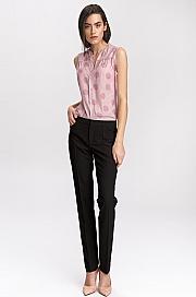 Nife - Czarne klasyczne spodnie damskie