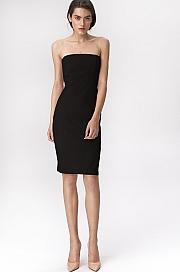 Nife - Czarna sukienka tuba