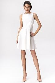 Nife - Rozkloszowana sukienka mini - ecru