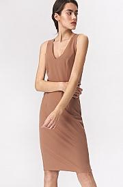 Nife - Karmelowa sukienka mini