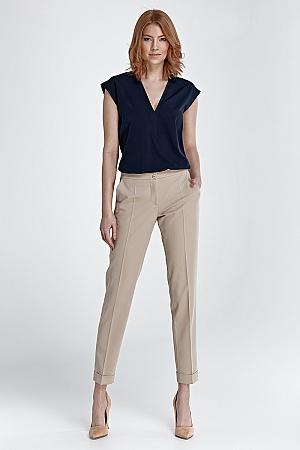 Nife - Spodnie z mankietami - beż
