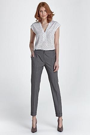 Nife - Spodnie z mankietami - szary