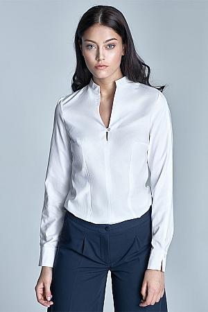 Nife - Koszula ze stójką - biały