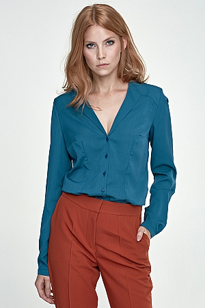 Nife - Koszula k50 - zielony