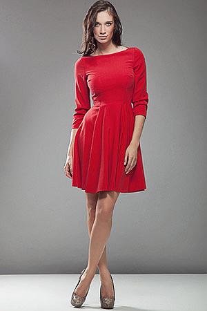 S19 czerwona - sukienka - Nife