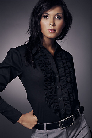 Sonia K01 czarna - koszula - Nife