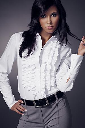 Sonia K01 biała - koszula - Nife
