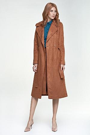 Nife - Długi płaszcz - karmel