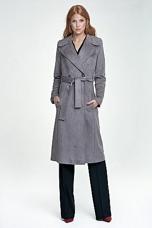 Nife - Długi płaszcz - szary