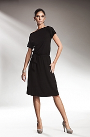 Nife - Subtelna sukienka z zamkiem - czarny