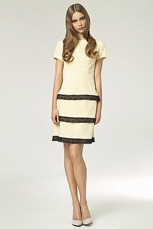 Nife - Sukienka s43 - żółty