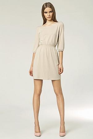 Nife - Sukienka s49 - beż