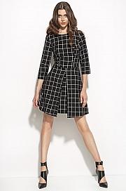 Nife - Sukienka w kratę s55 - czarny/kratka