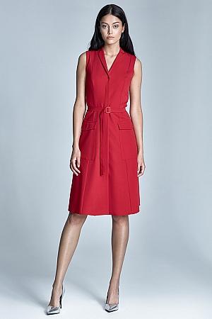 Nife - Sukienka Szmizjerka - czerwony