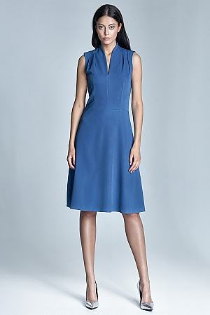 Nife - Sukienka Spring - niebieski