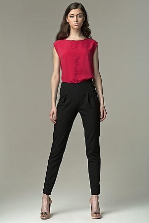Nife - Spodnie z wysokim stanem - czarny