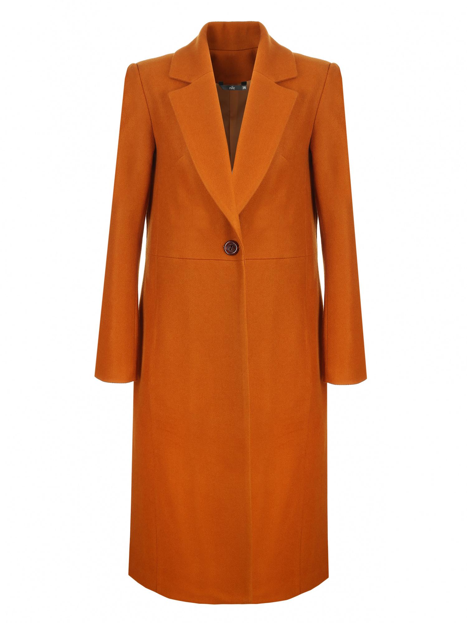 Nife - Miodowy płaszcz jednorzędowy  2