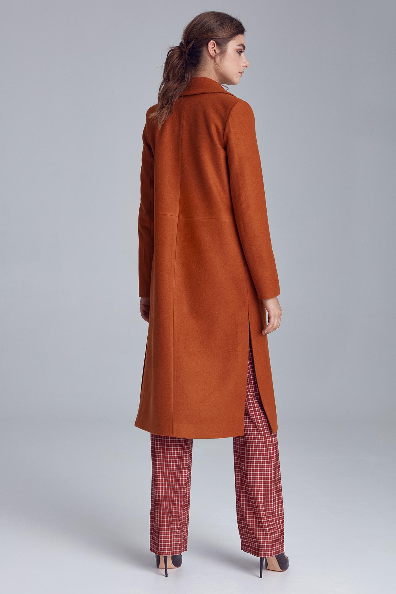 Nife - Miodowy płaszcz jednorzędowy  6
