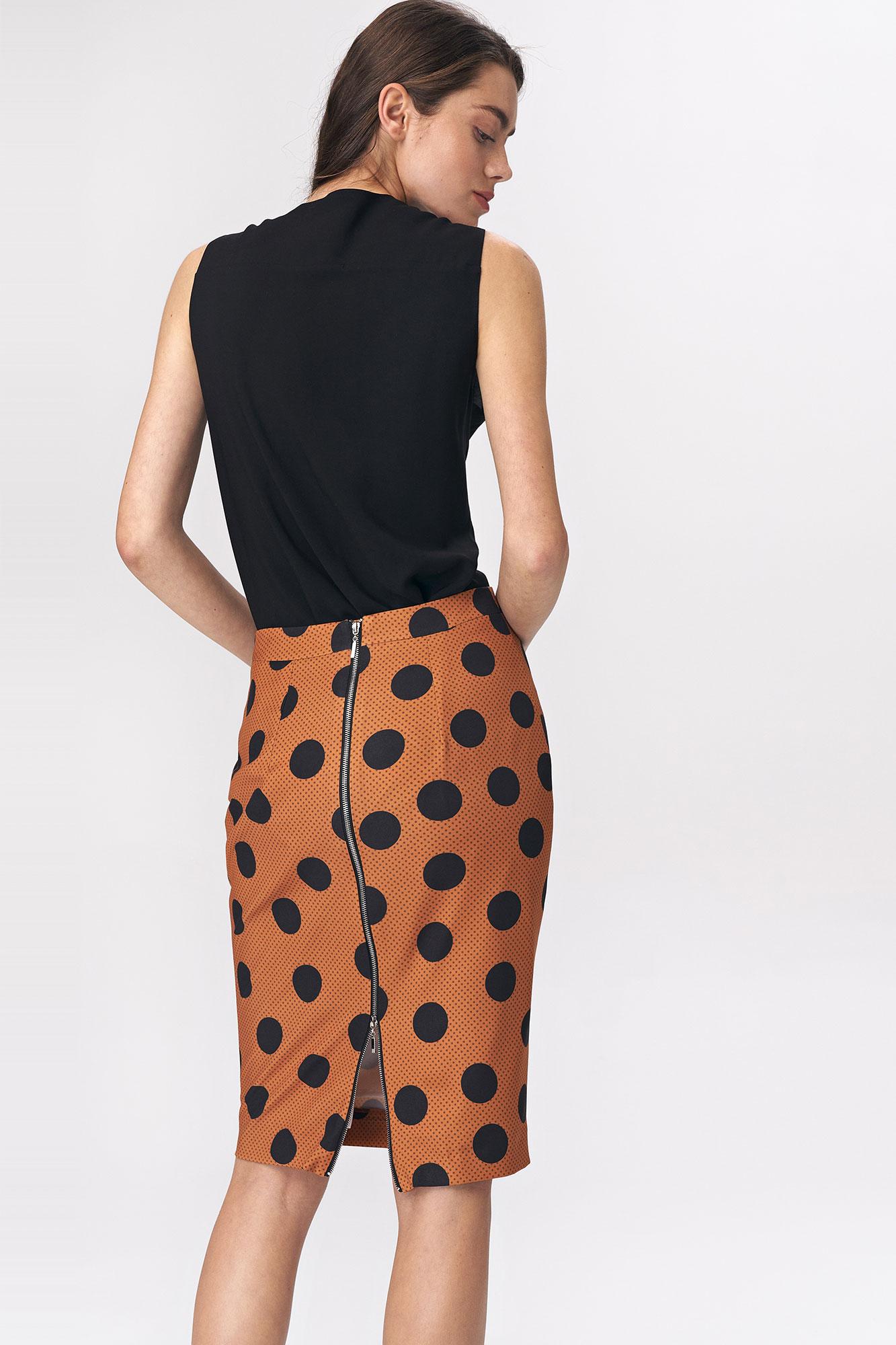 Nife - Ołówkowa spódnica w grochy  4