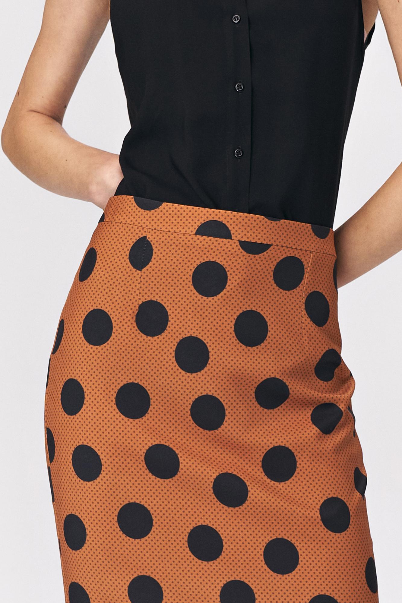 Nife - Ołówkowa spódnica w grochy  3