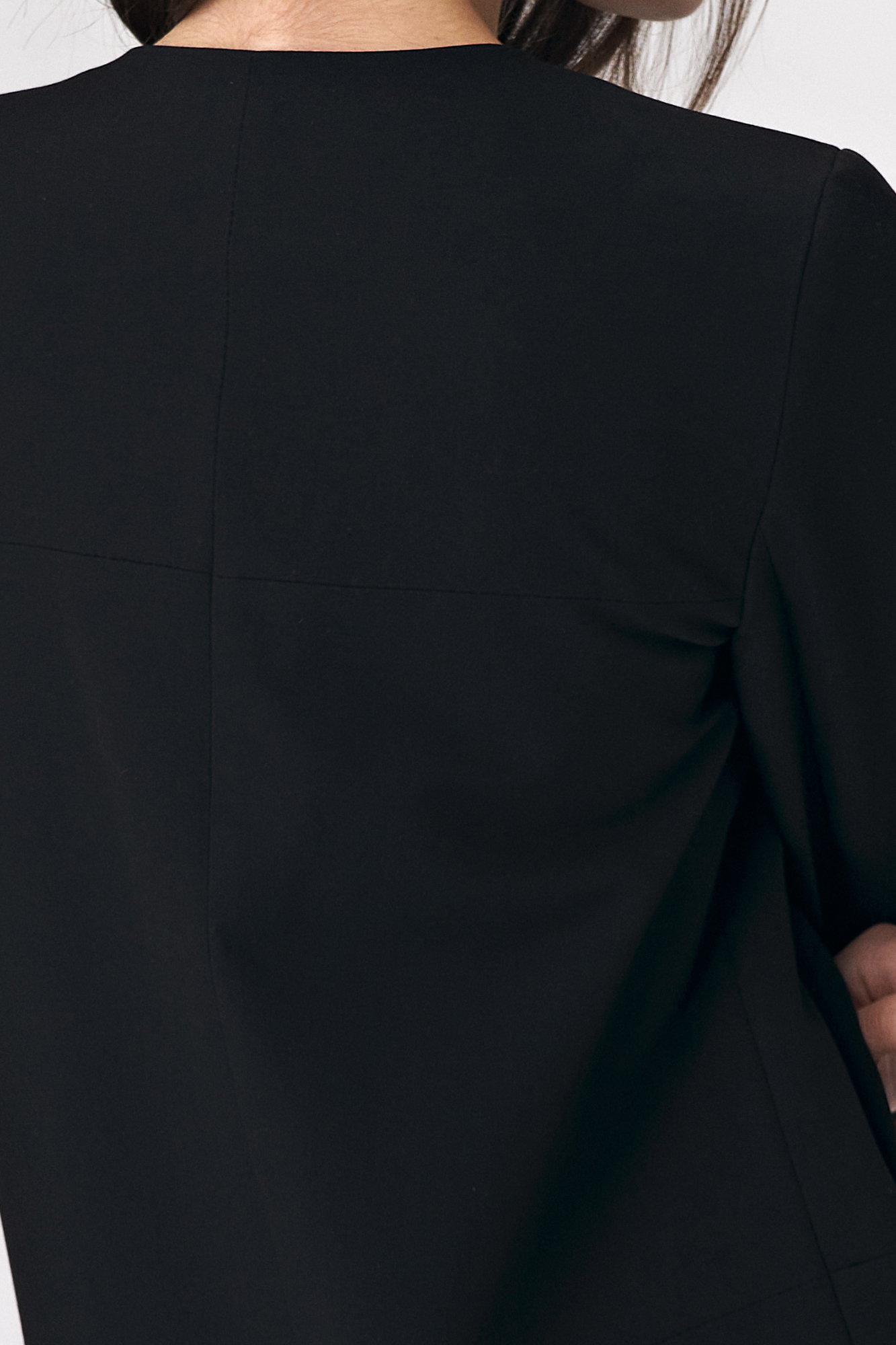 Nife - Czarny długi żakiet damski 4