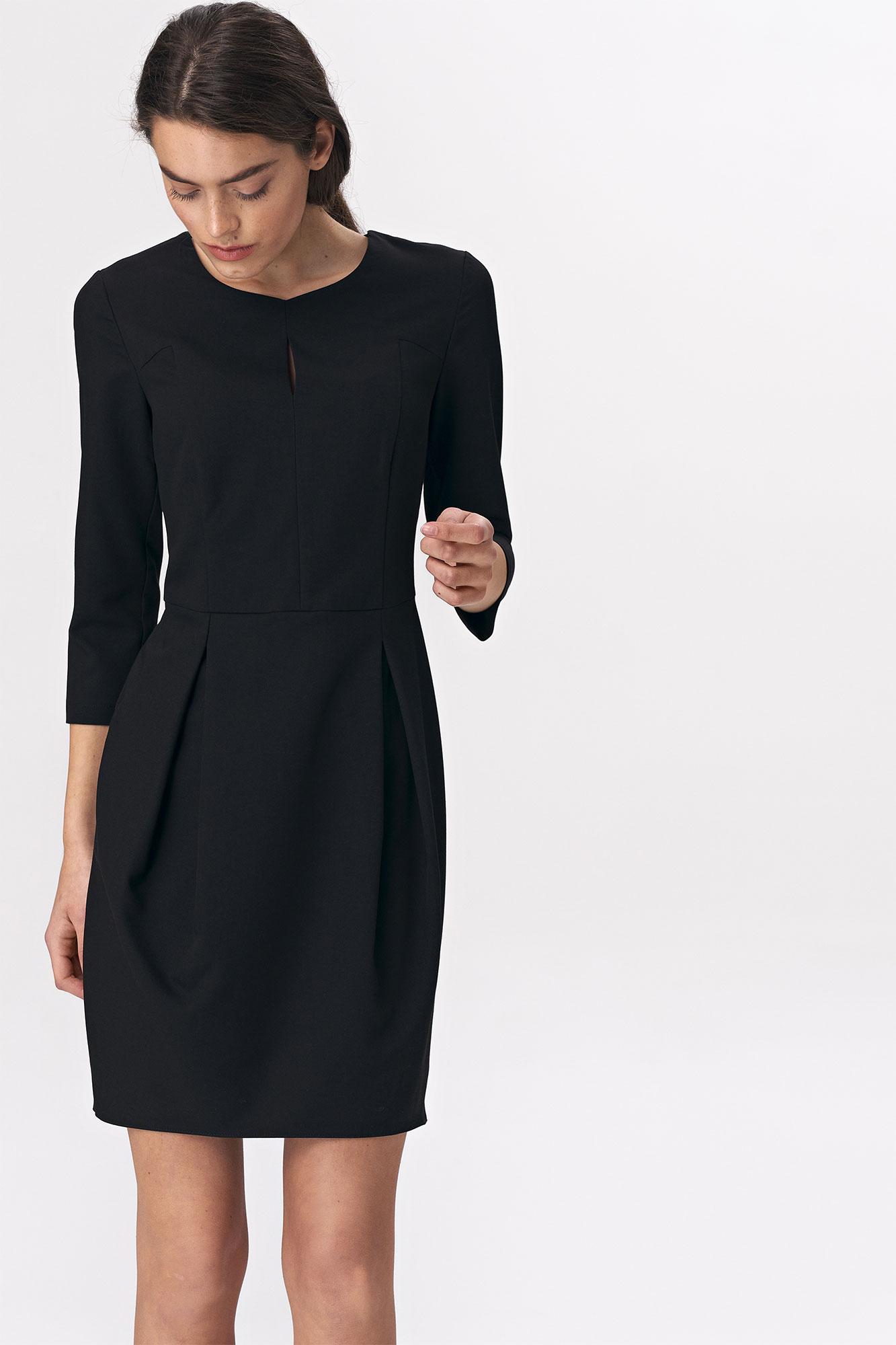 Nife - Czarna sukienka tulipan 3