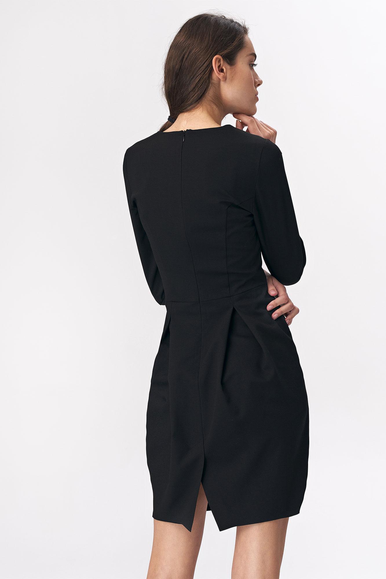 Nife - Czarna sukienka tulipan 5