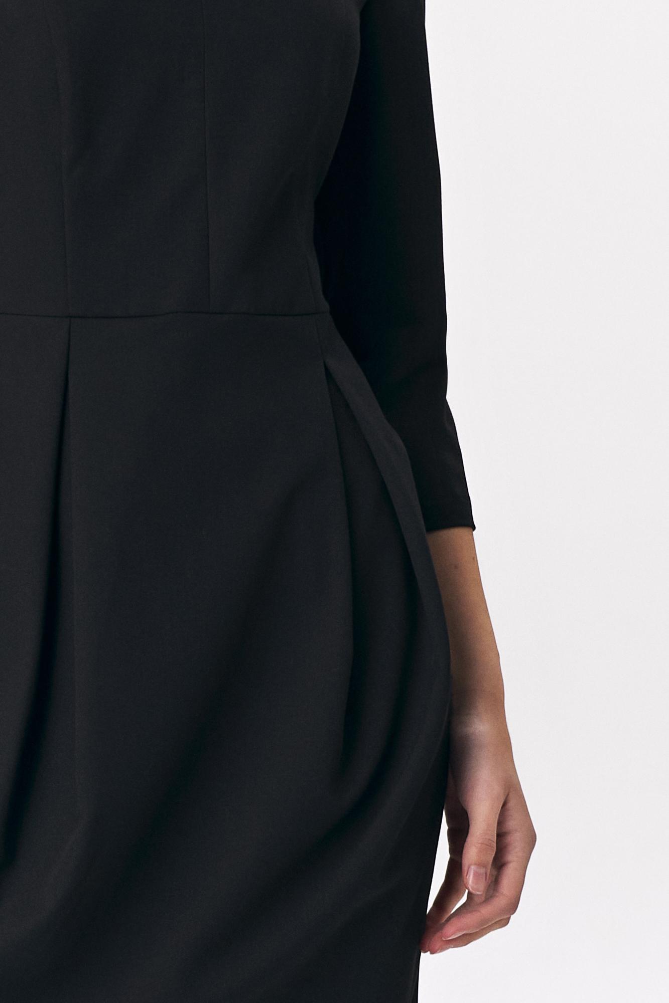 Nife - Czarna sukienka tulipan 2