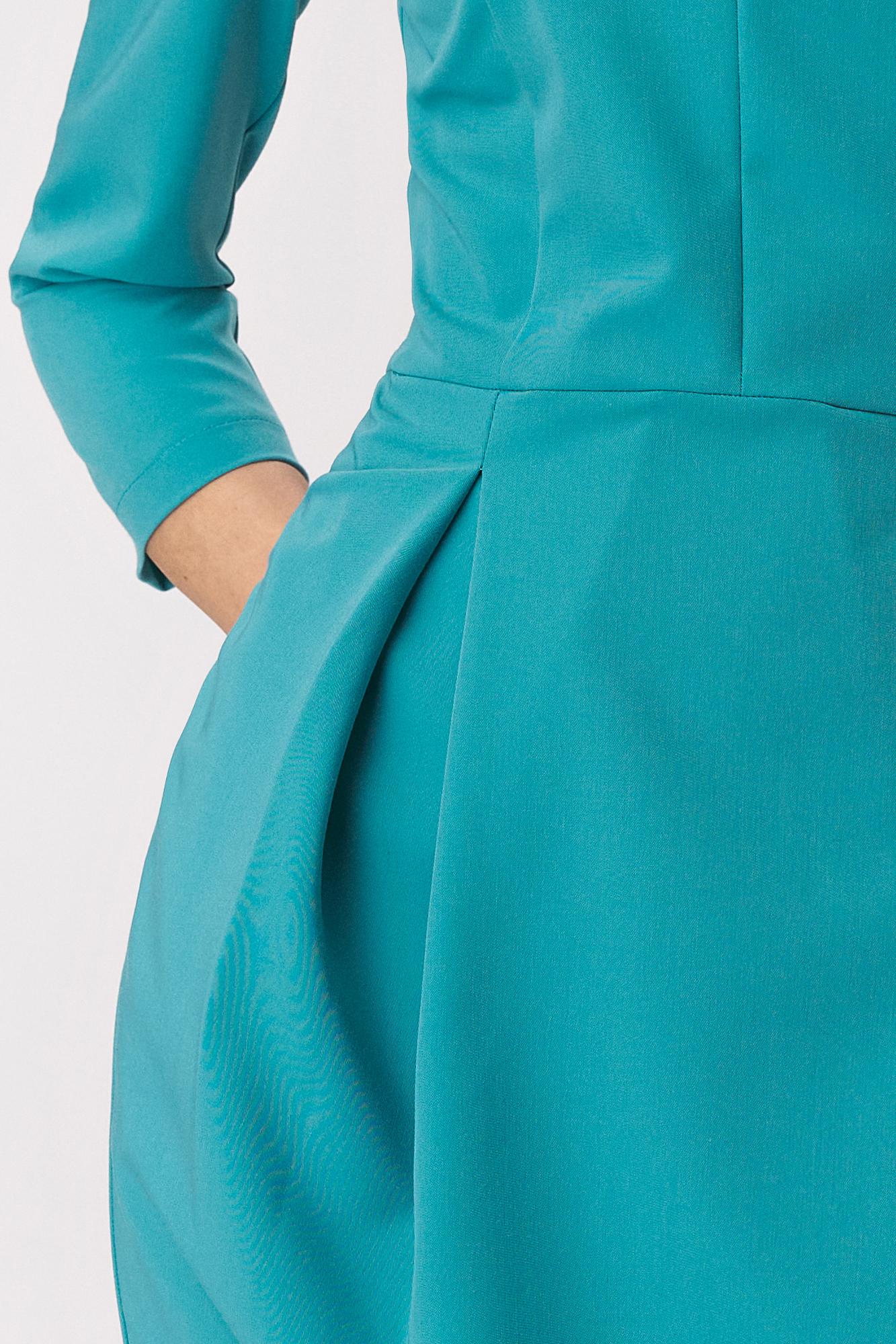 Nife - Turkusowa sukienka tulipan 5