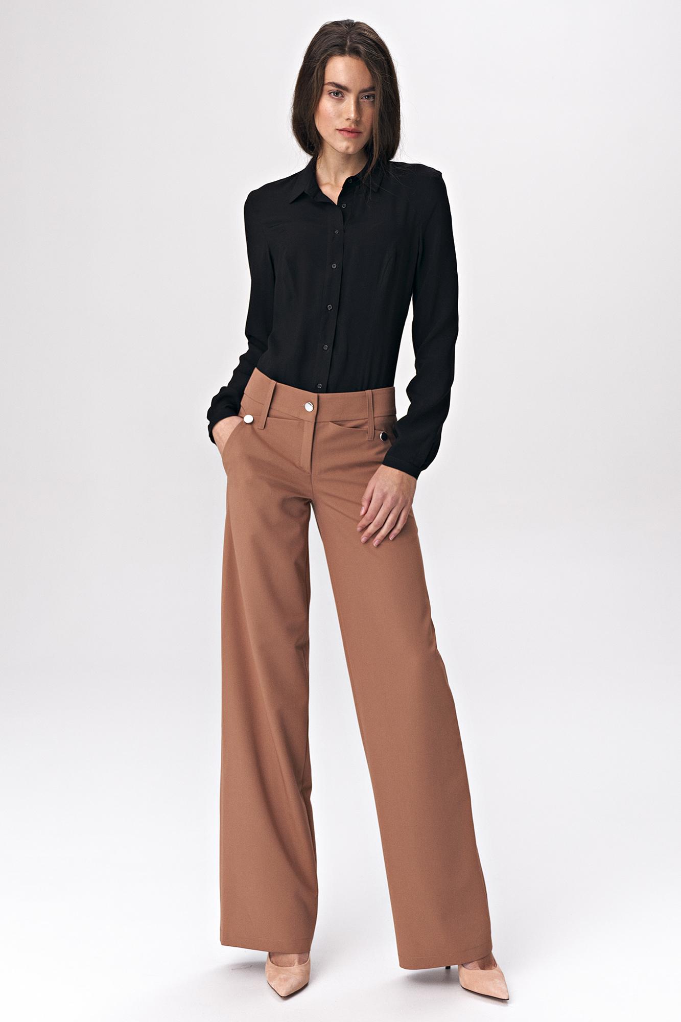 Nife - Karmelowe spodnie palazzo 2