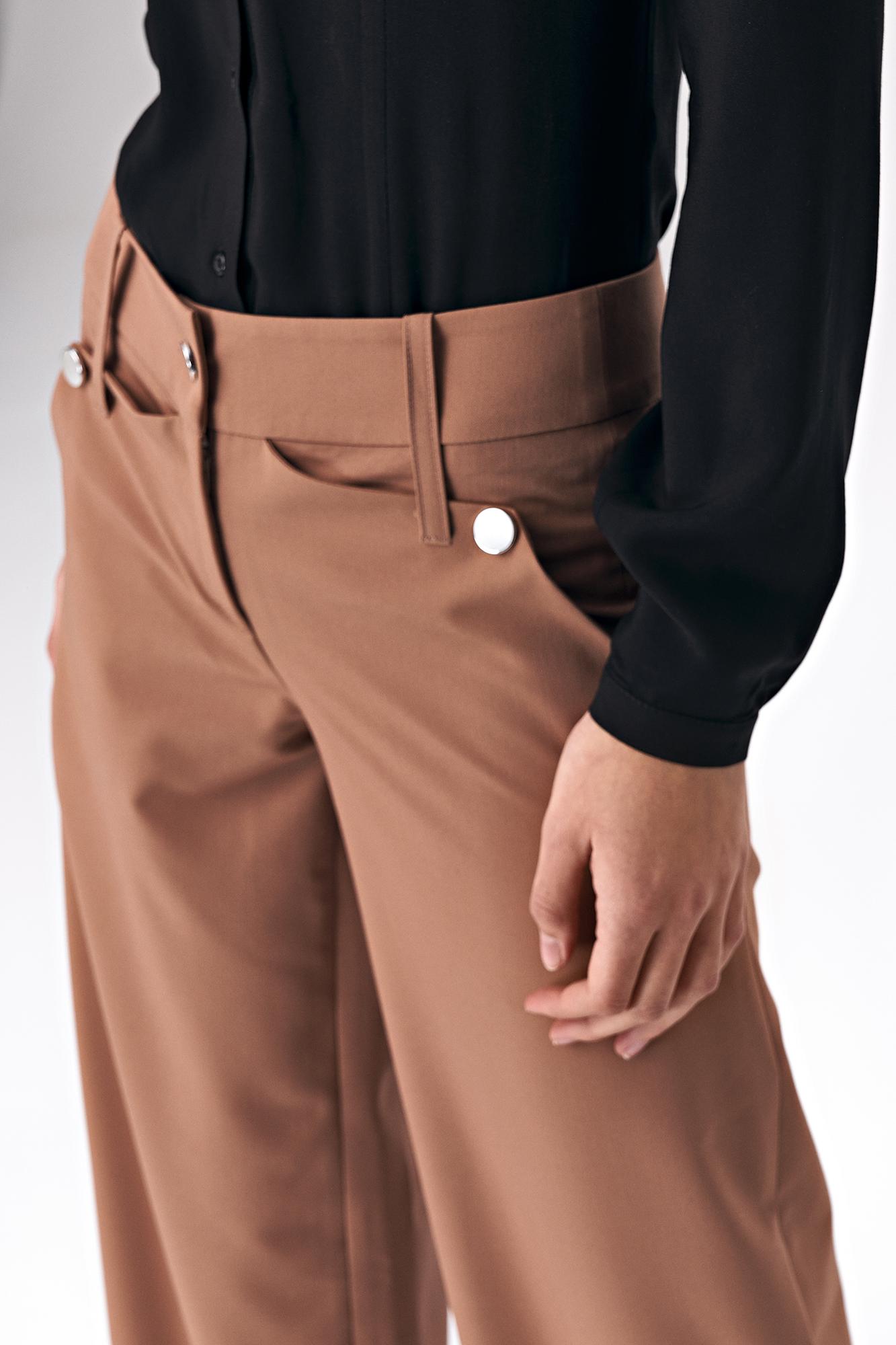 Nife - Karmelowe spodnie palazzo 7