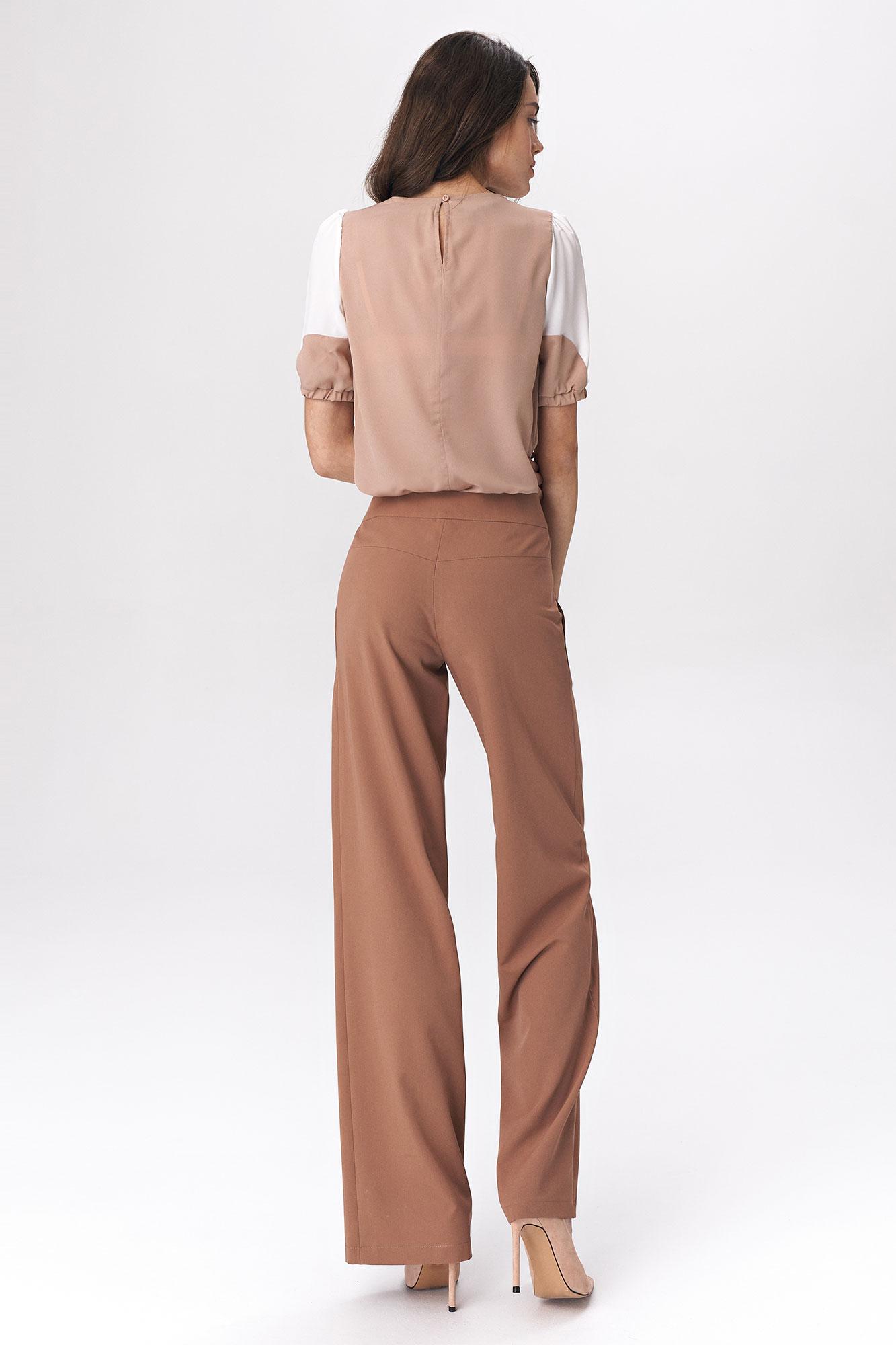 Nife - Karmelowe spodnie palazzo 5