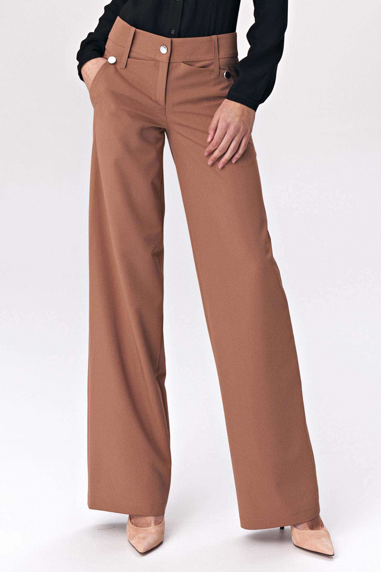 Nife - Karmelowe spodnie palazzo 1