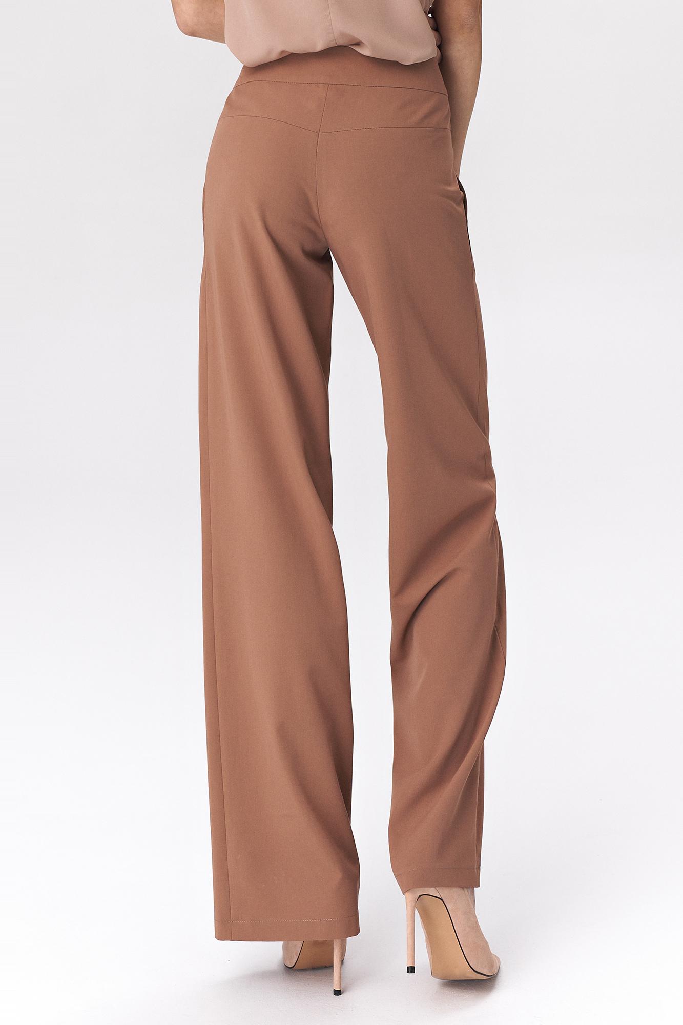 Nife - Karmelowe spodnie palazzo 6