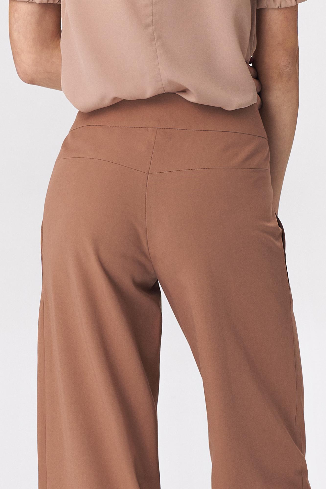 Nife - Karmelowe spodnie palazzo 4