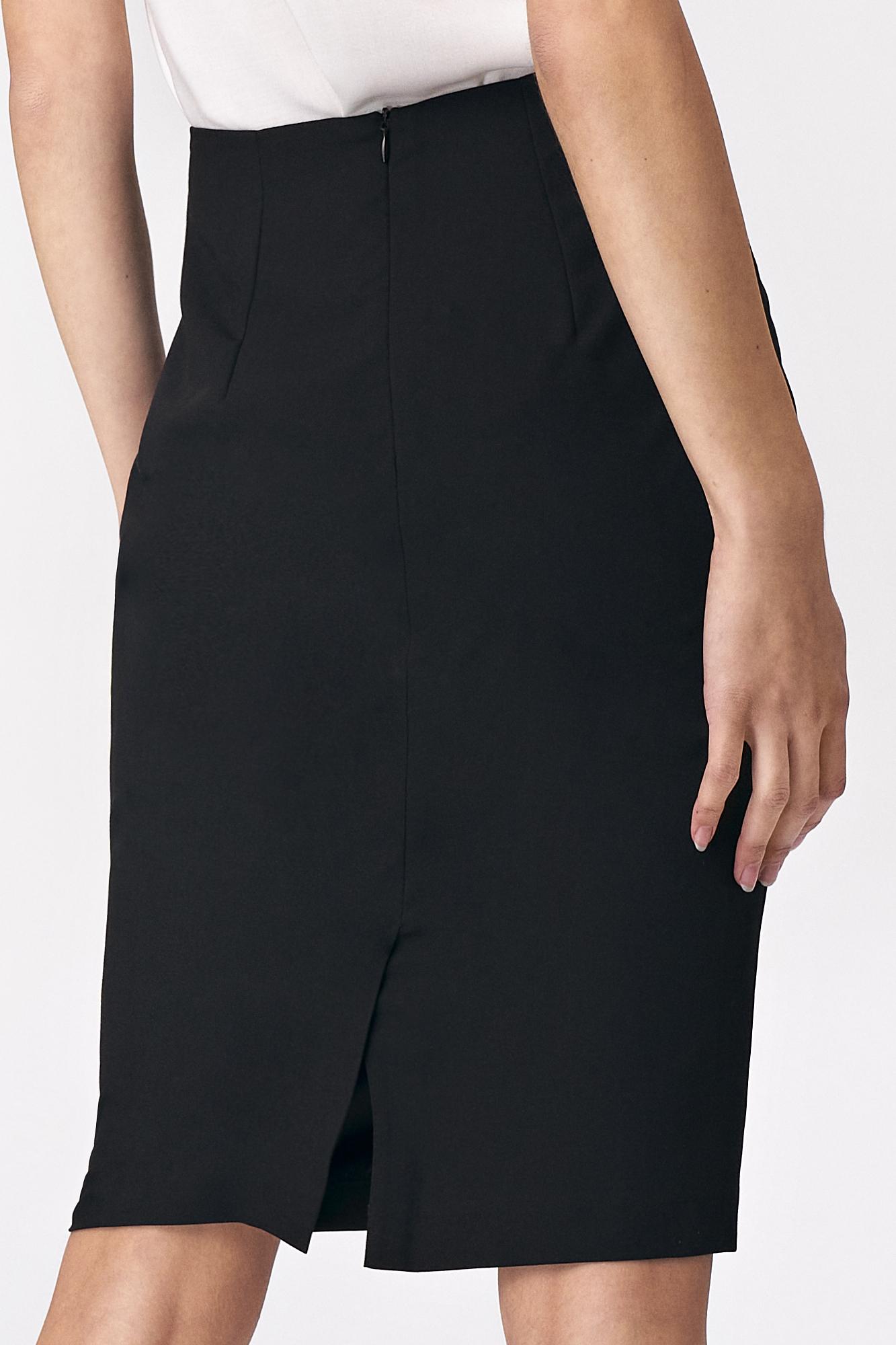 Nife - Prosta czarna ołówkowa spódnica 3