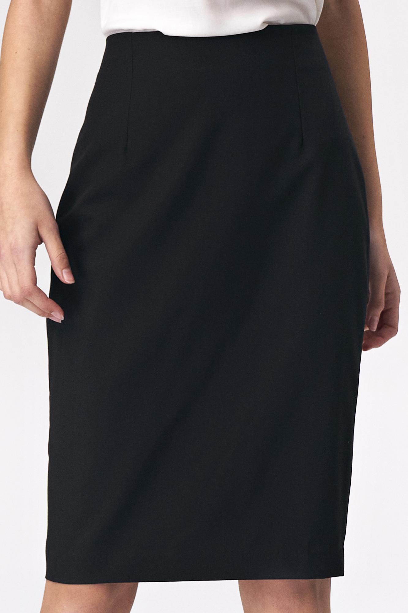 Nife - Prosta czarna ołówkowa spódnica 4