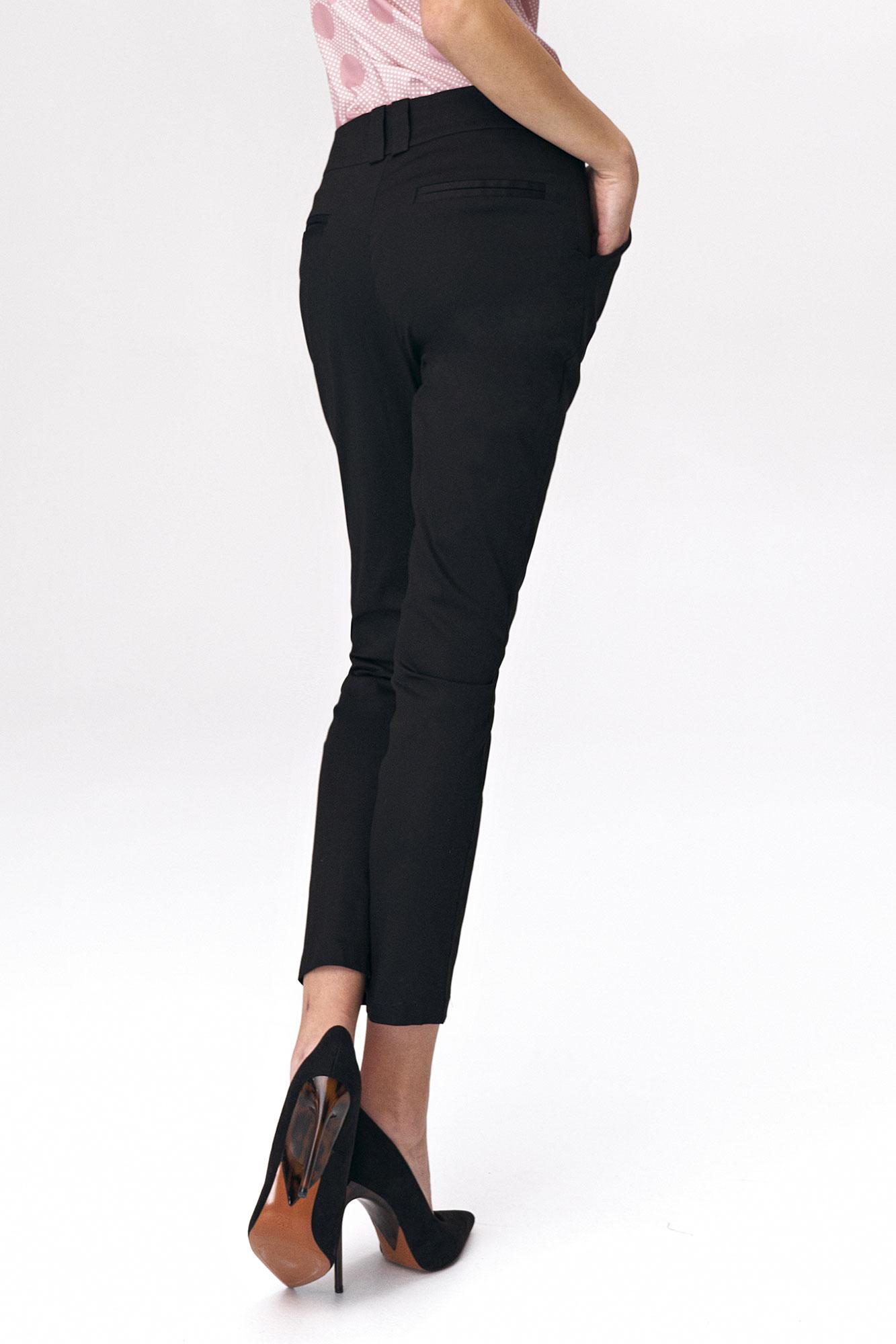 Nife - Dopasowane czarne spodnie damskie 5