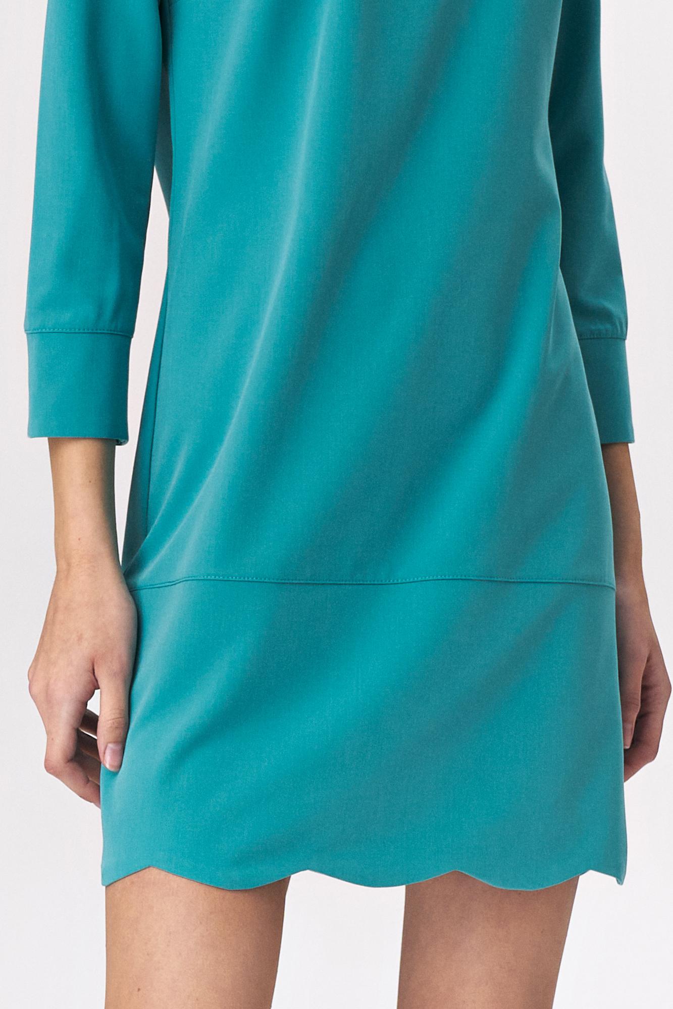 Nife - Turkusowa sukienka z dekoltem na plecach 3