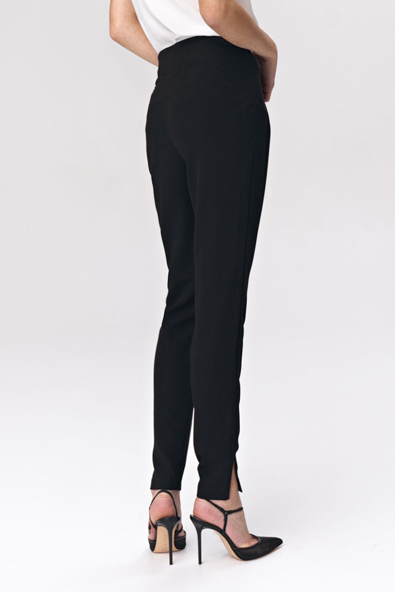 Nife - Czarne spodnie z zaszewkami 2
