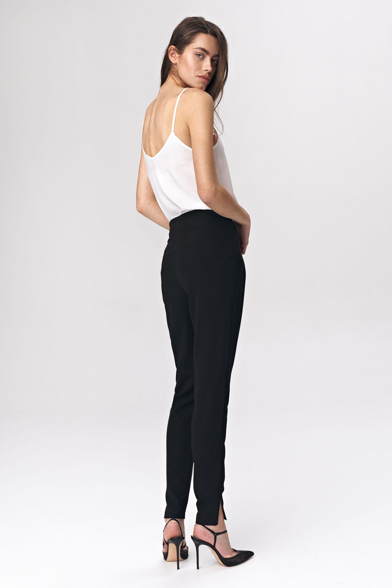 Nife - Czarne spodnie z zaszewkami 3