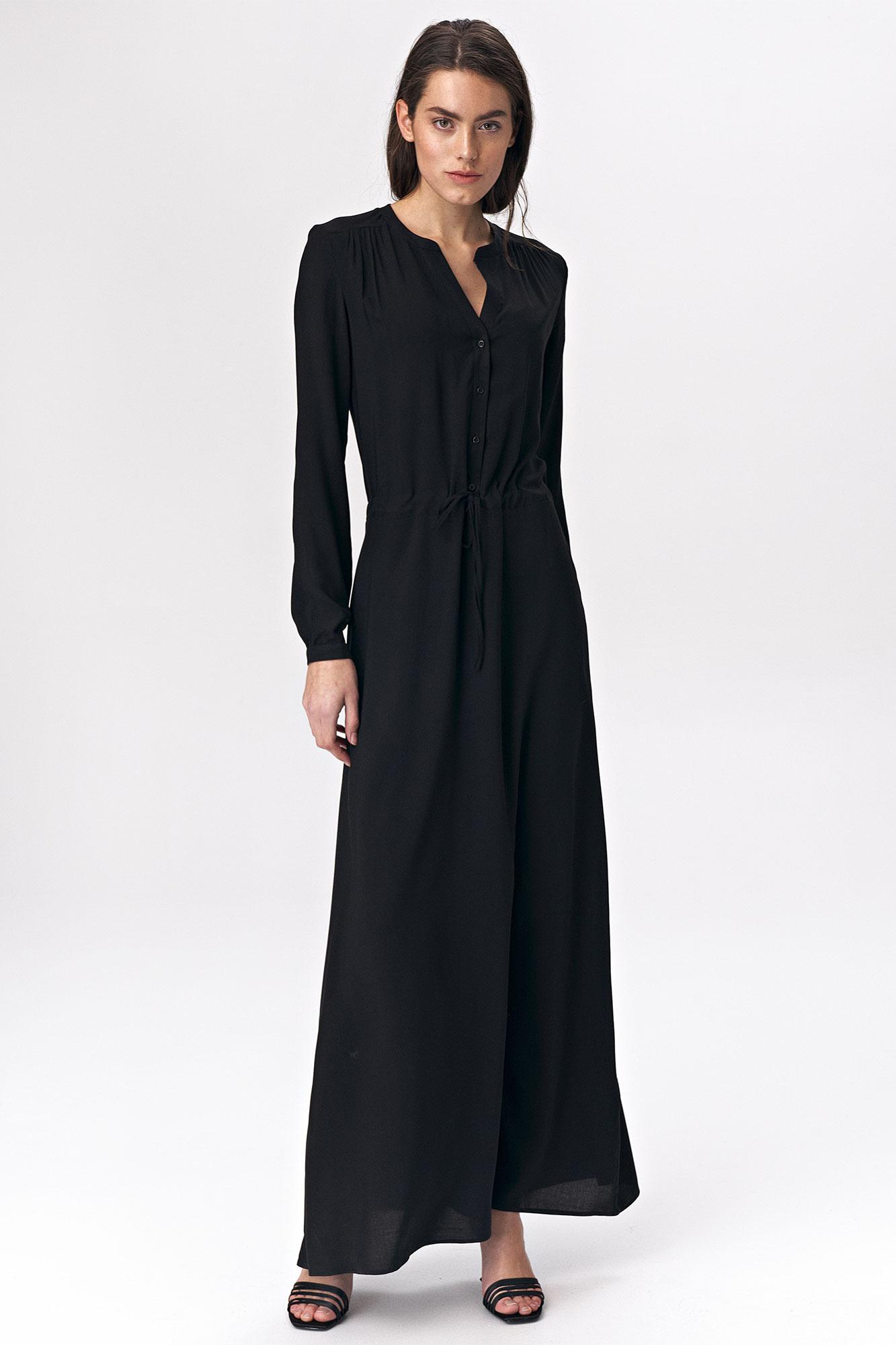 Nife - Czarna sukienka maxi 1