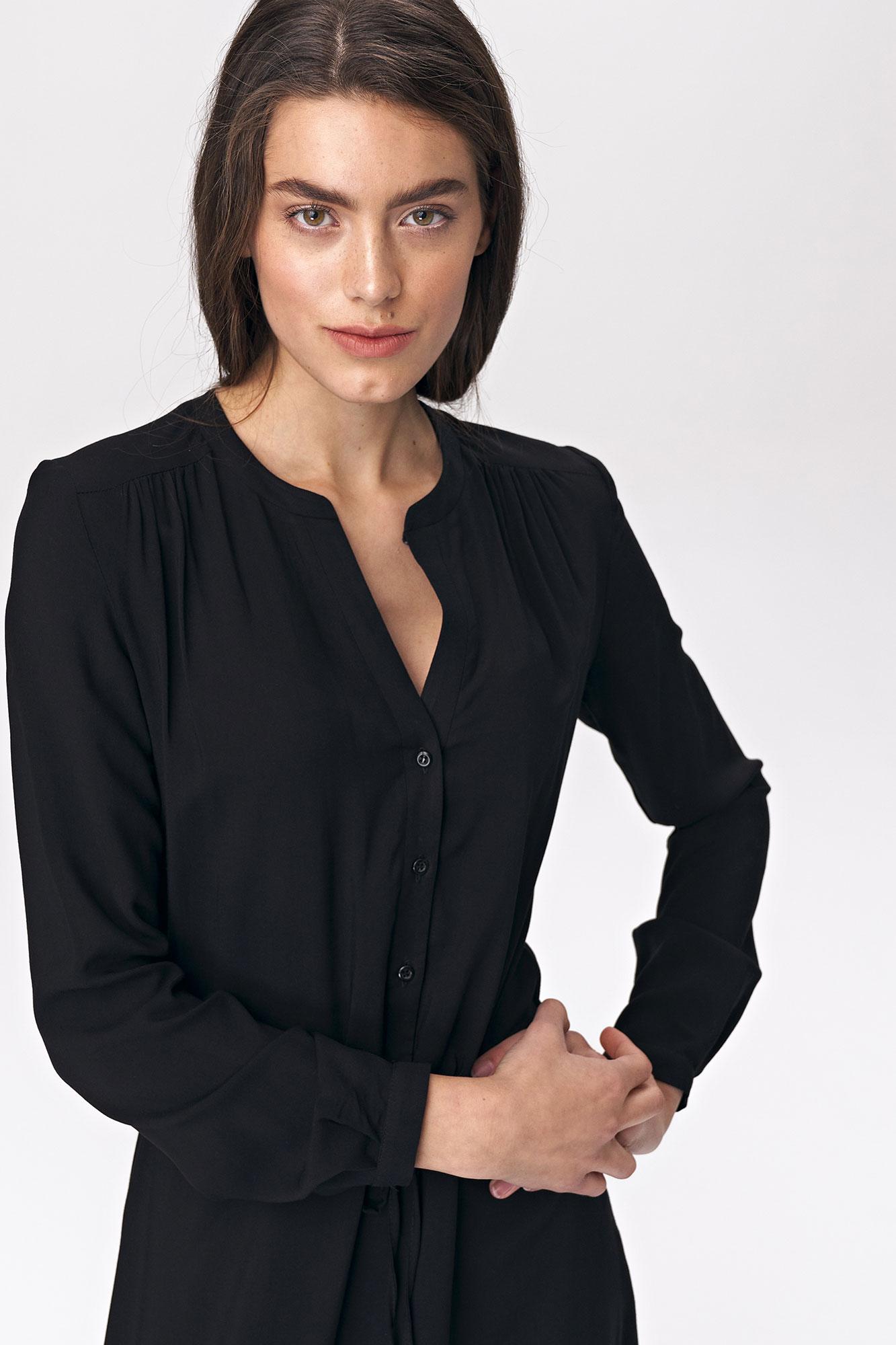 Nife - Czarna sukienka maxi 5
