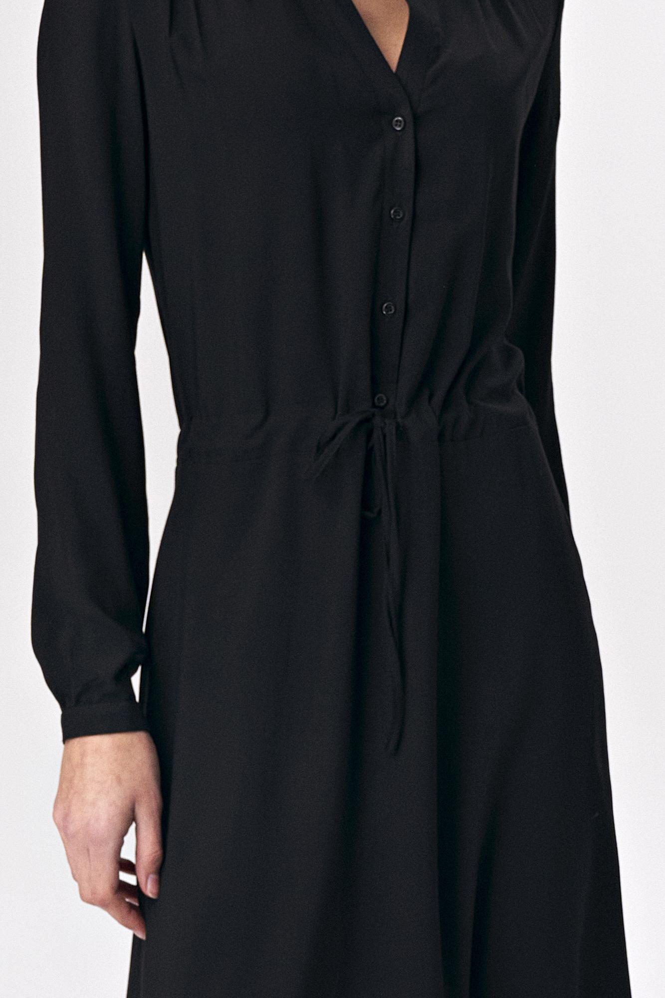 Nife - Czarna sukienka maxi 2