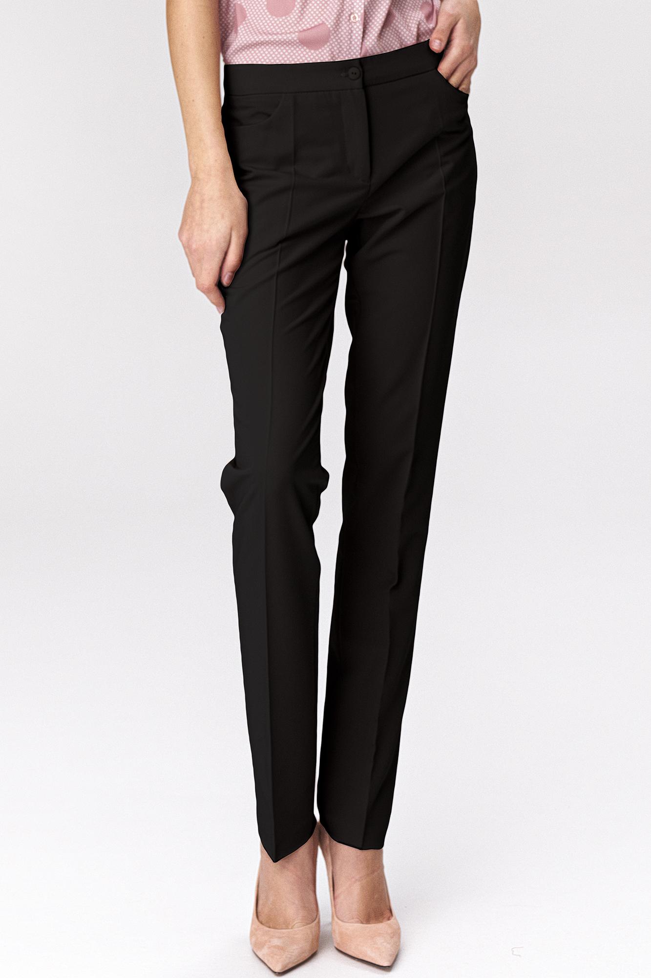 Nife - Czarne klasyczne spodnie damskie 3