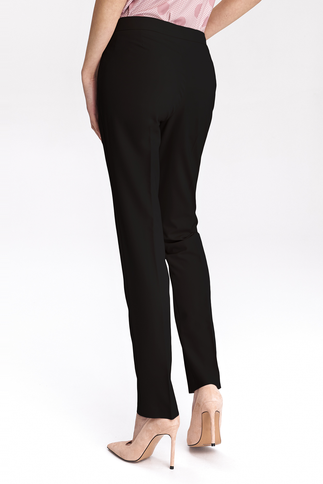 Nife - Czarne klasyczne spodnie damskie 2