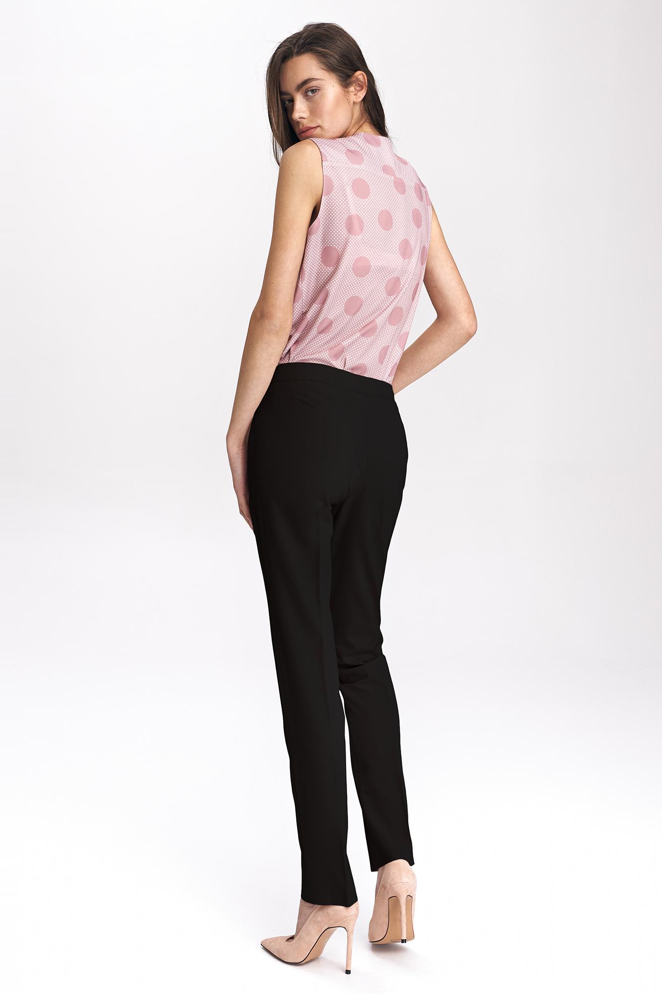 Nife - Czarne klasyczne spodnie damskie 4