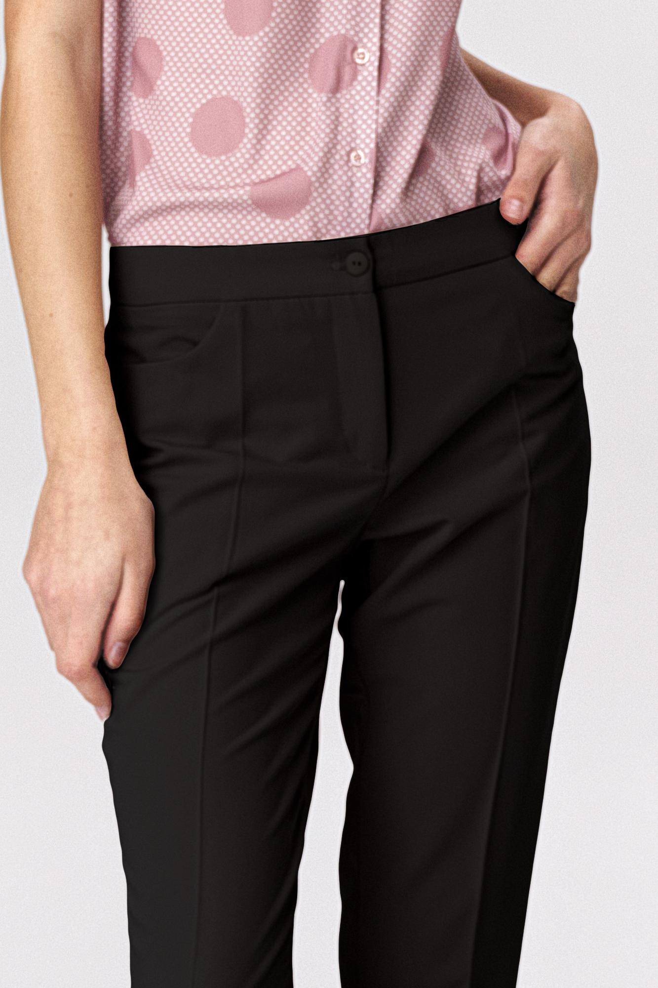 Nife - Czarne klasyczne spodnie damskie 6