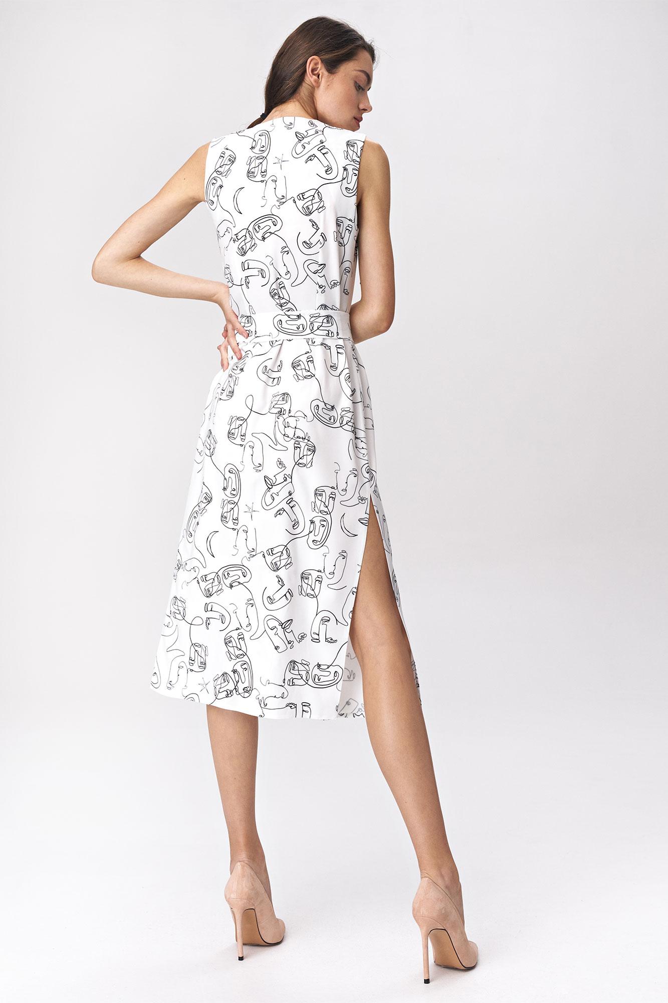 Nife - Sukienka midi z rozcięciem w twarze 4