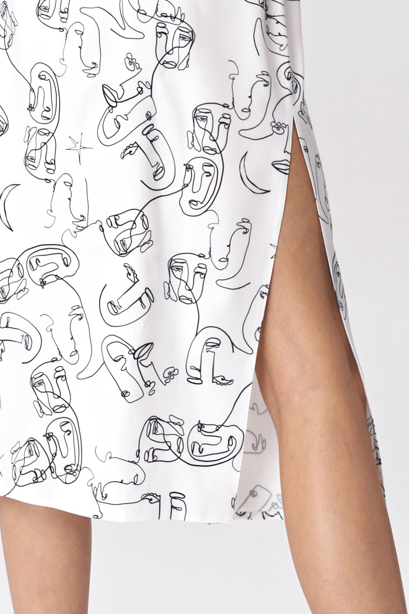 Nife - Sukienka midi z rozcięciem w twarze 5